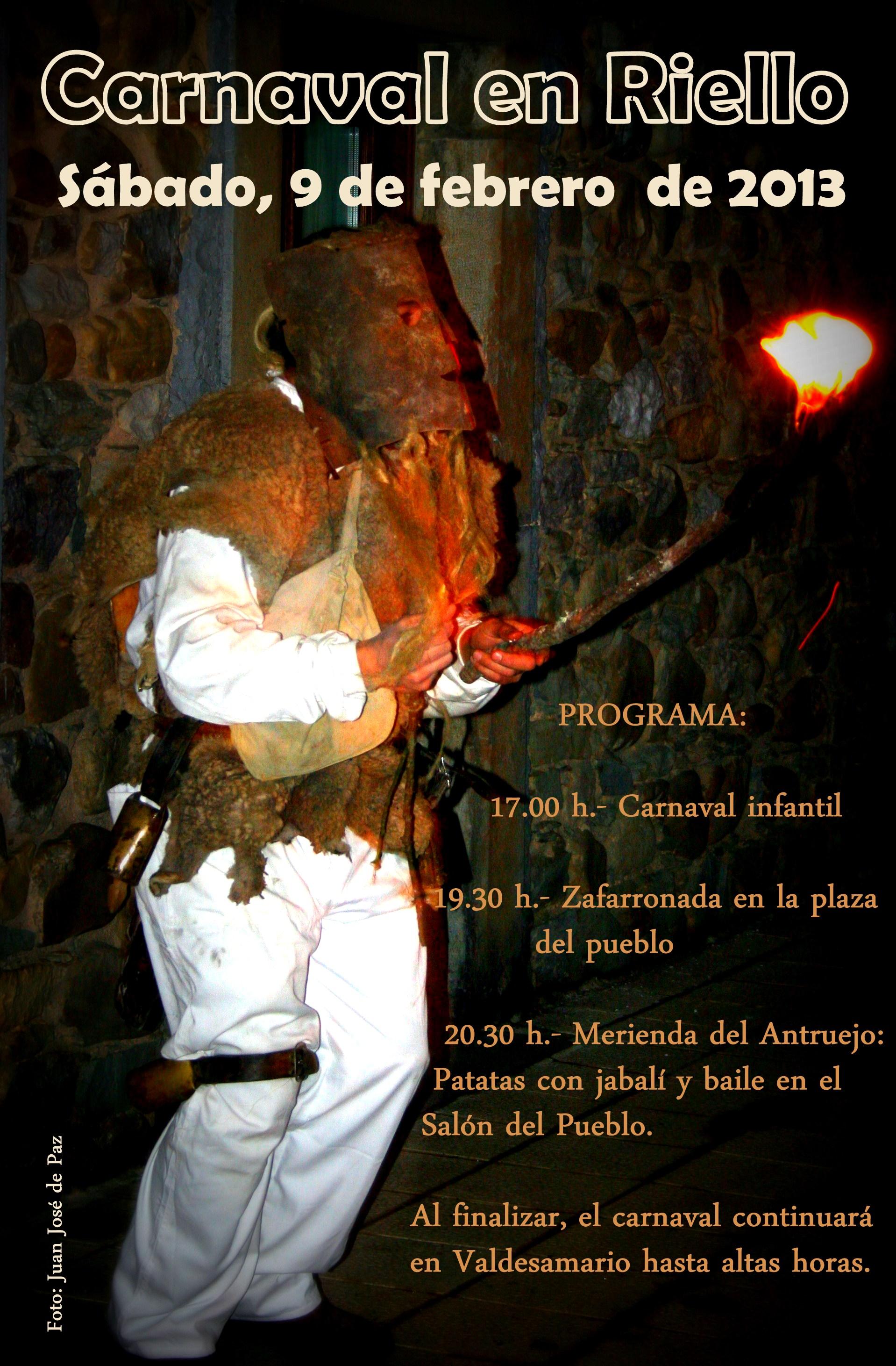 Cartel Carnavales Riello 2013